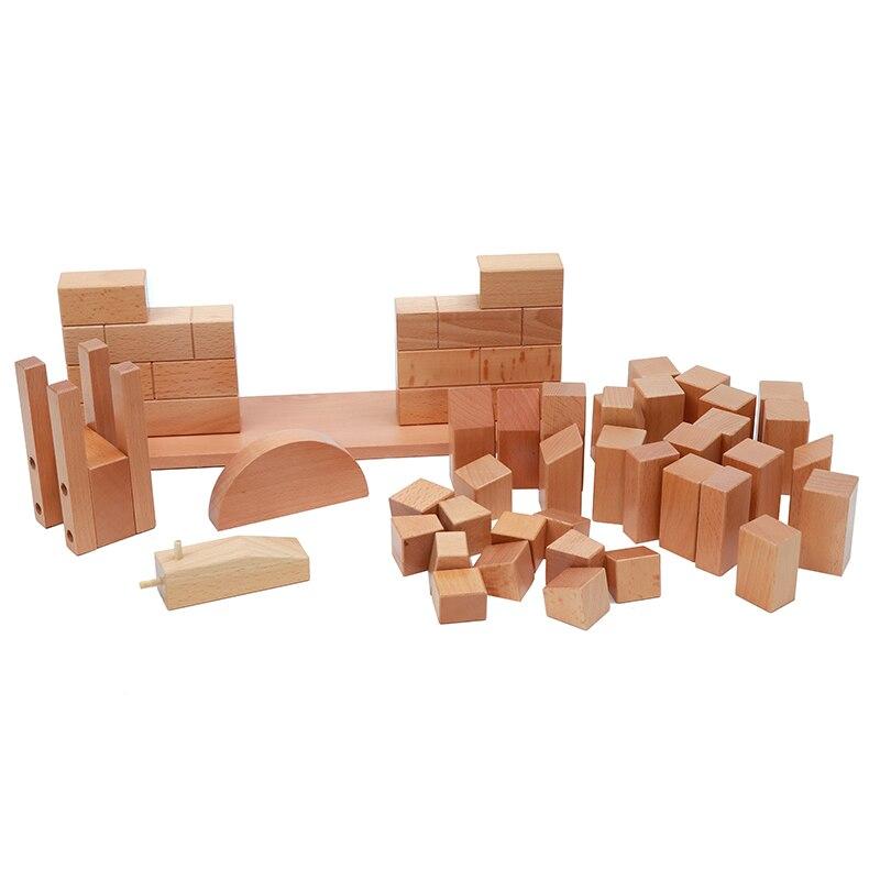 Brinquedo do bebê montessori ponte romana de madeira para educação infantil pré escolar crianças brinquedos juguetes - 3