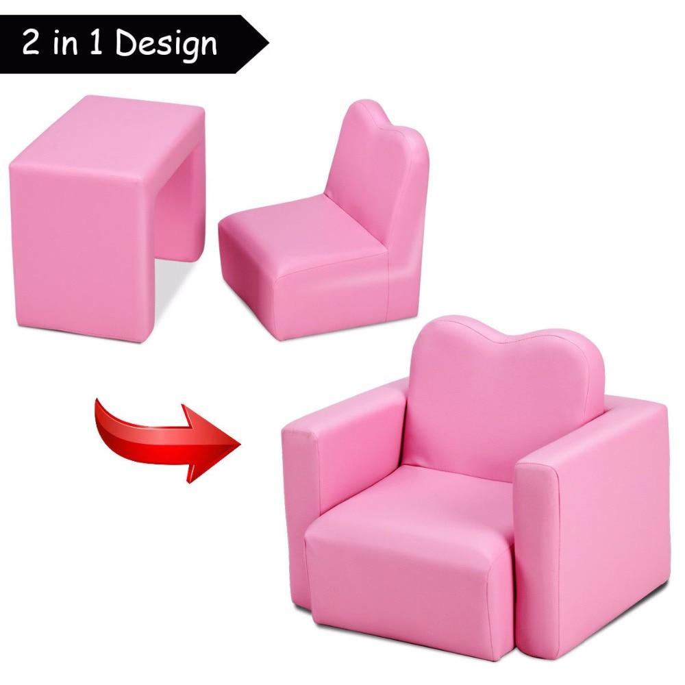 Giantex Multi-functional Kids Armchair Sofa Table Chair Set Gift Living Room Boys Girls HW58619BL