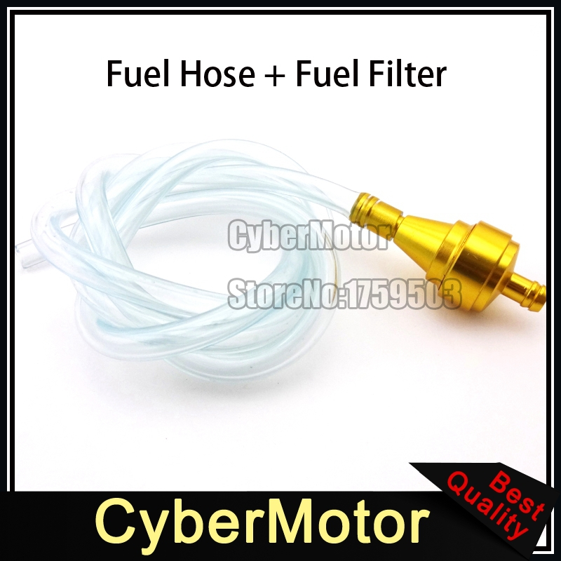 Gold 1 Meters 5mm Gas Filter Clearner Fuel Hose Inline Pipe Tube For ATV Pit Dirt Motorized Bicycle Buggy Go Kart UTV Motorcycle