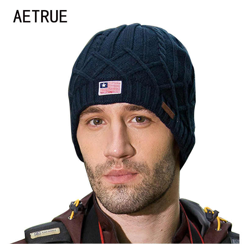 12853bf3456818 Beanies Winter Hat Brand Knitted Caps Skullies Winter Hats For Men Women Cap  Warm Thicken Bonnet