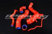 Silicone Turbo Intake Hose / Pipe / Tube Kit Red FOR VW Golf IV / BORA 1.8T