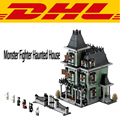 2017 New 2141Pcs City Creator Street Serie Monster Fighter Haunted House Model Building Kits Blocks Bricks Compatible Toys 10228