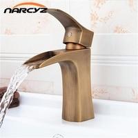 Euro Style Square Single Handle Antique Brass Basin Sink Mixer Tap Design G 6