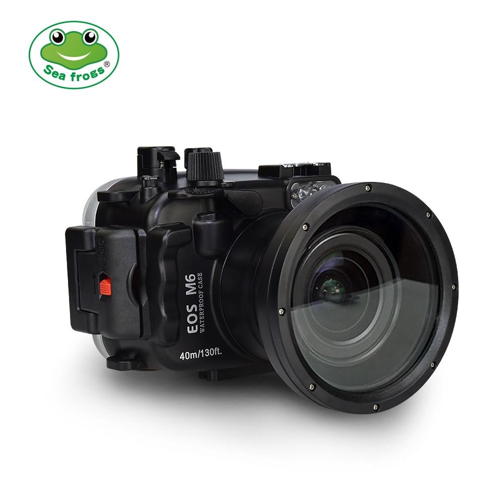 Pour appareil photo Canon EOS M6 boîtier étanche boîtier sous-marin 40 m photographie imperméable étui de protection 67mm Interface de Port d'objectif