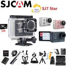 """Sjcam câmera esportiva sj7 star 4k, câmera touch screen de 2 """"original, ambarella a12s75, dv hd, wifi, controle remoto 30m câmera impermeável 32g, presente do cartão sd"""