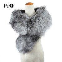 CLF012 New Huge Size Top Quality Natural Color Real Genuine Silver Fox Furs Scarf Collar scarf shawl