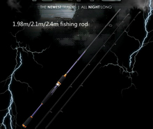 1.98/2.1/2.4m high-carbon lure rod 2 sections bait casting/spinning fish rod 2 tips M/MH telescopic fishing pole fishing tackle