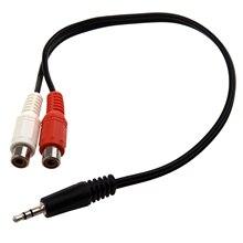 Стиль адаптера ksol 12 дюймов 3,5 мм стерео штекер 2 RCA Женский разъем аудио кабель Y адаптер