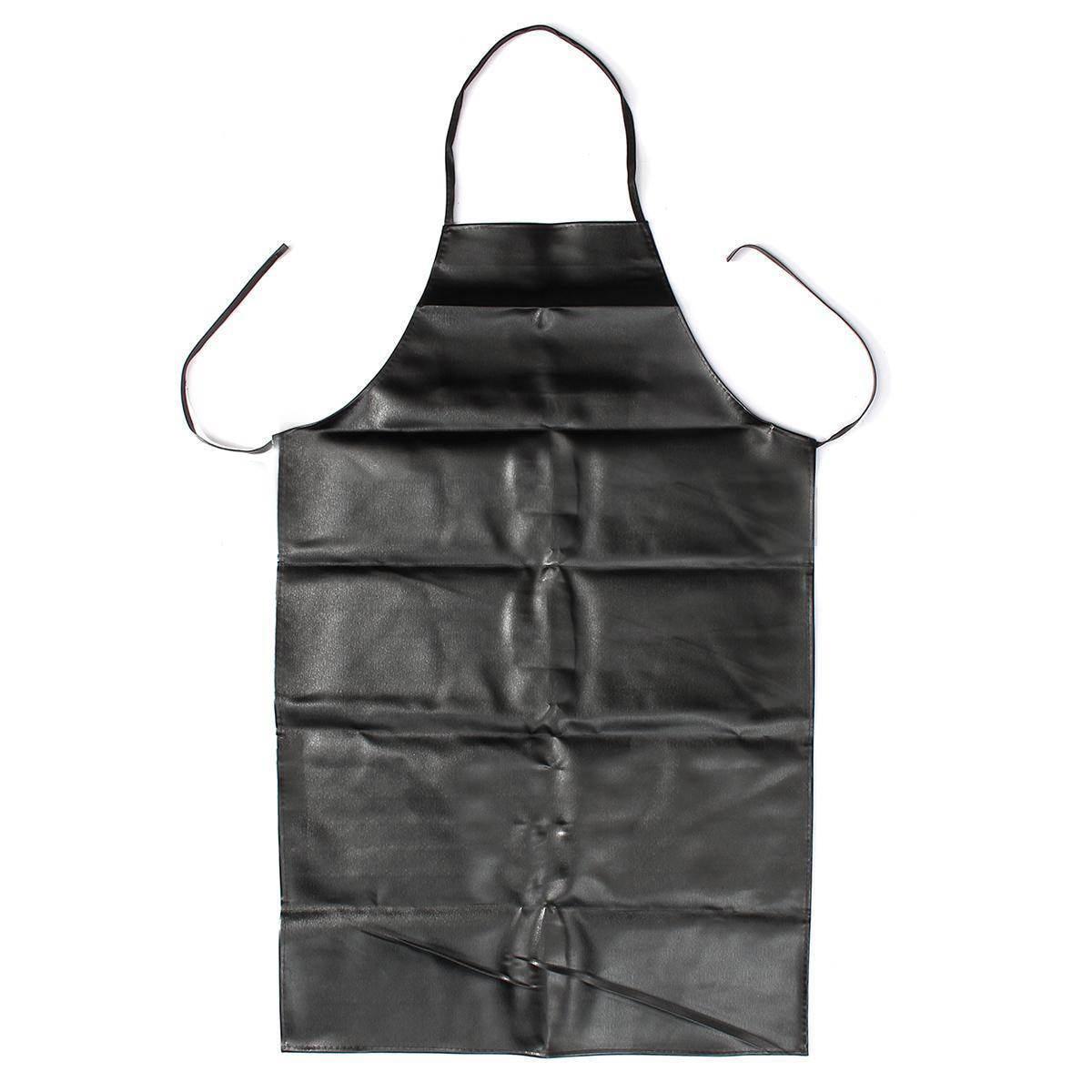 Naroface leder anti öl schürze küche bbq restaurant catering kochen wasserdicht restaurant schürzen schwarz