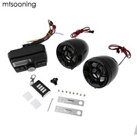 mtsooning Anti Theft Motorcycle Audio Set Radio Speaker Moto Amplifier 12V MP3 Music Player Scooter Alarm TF Card Stereo control