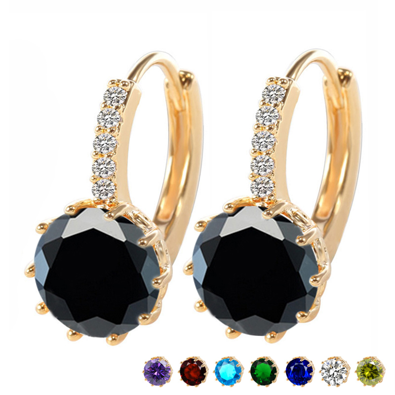 MISANANRYNE 19 Colors Silver Gold CZ Zircon Drop Earring For Women Fashion High Quality Wedding Earrings Jewelry