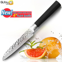 kitchen Knife 4 inch 3Cr13 Stainless Steel Knife 440C Fruit Knives 58 Hrc Blade Soft Anti-slip Antimicrobial Handle