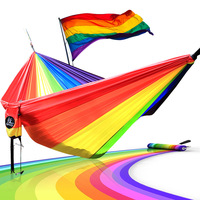 Hammock Length 300cm Width 200cm Double Person Use LGBT 6 Color Rainbow Hammocks