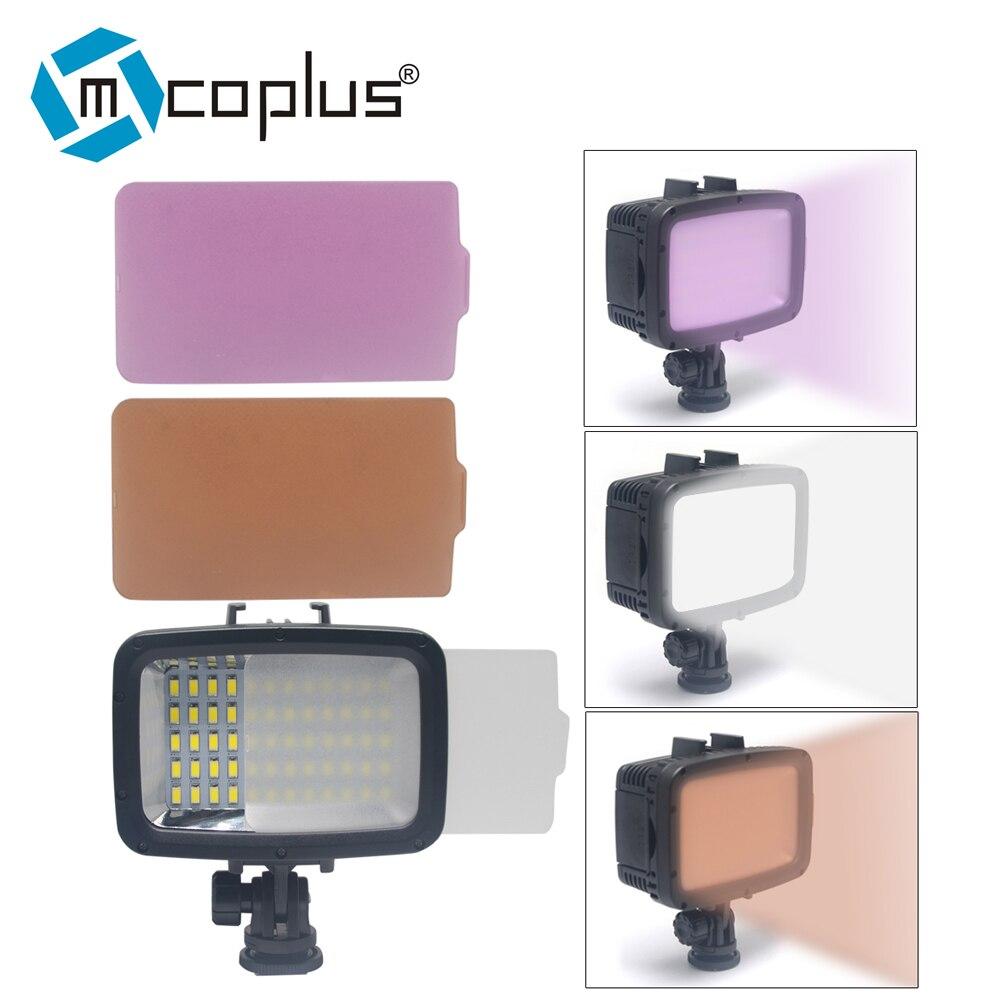 Mcoplus 60pcs 1800LM Underwater Lamp Waterproof Video LED Light for GoPro Hero 4 3 SJCAM SJ4000