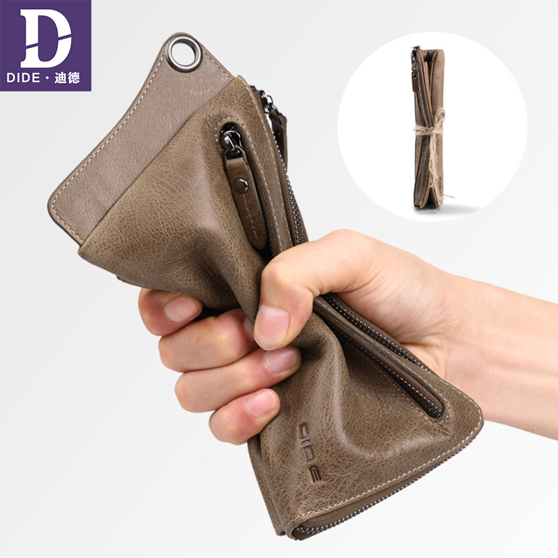 DIDE Coin Purse Wallets Organizer Clutch-Bag Card-Holder Business Travel Large-Capacity