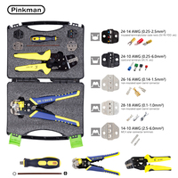 Multi stripper Wire Crimpers Engineering Ratcheting Crimping Pliers Ferrule Crimper Tool Cord End Terminal Cutting Pliers