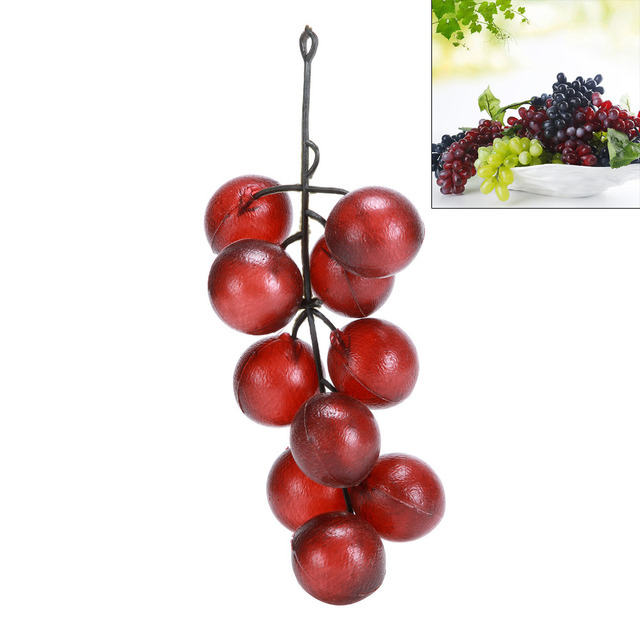 Anmas Home 5pcs Green /Red Grapes Lifelike Artificial Grapes Plastic Fake  Fruit Food Home Decor