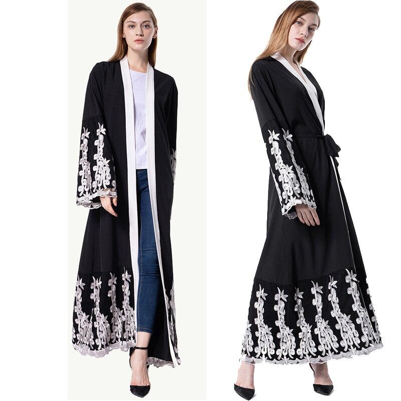 Kaftan Abaya Dubai Islam Long Lace Kimono Cardigan Muslim Hijab Dress Caftan Marocain Abayas For Women Turkish Islamic Clothing
