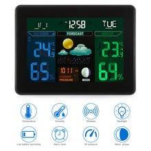 Цифровая метеостанция Монитор датчик температуры для внутреннего/наружного использования ЕС вилка