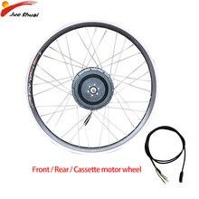цена на 36V48V 500W Electric motor wheel Front Rear Cassette Brushless Gear Hub Motor flywheel Electric bicycle Conversion Kit E bike