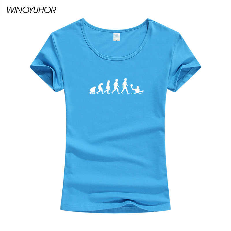 Evolution Waterpolo Bal Speler T-shirt Vrouwen Zomer Fashion Korte Mouw O-hals T-shirt Funny Lady Meisjes Tops Tee Camiseta