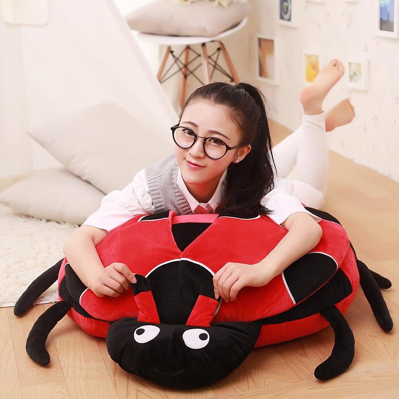 big plush ladybug toy red ladybug pillow doll giftabout 100cm grouchy ladybug pb illustr