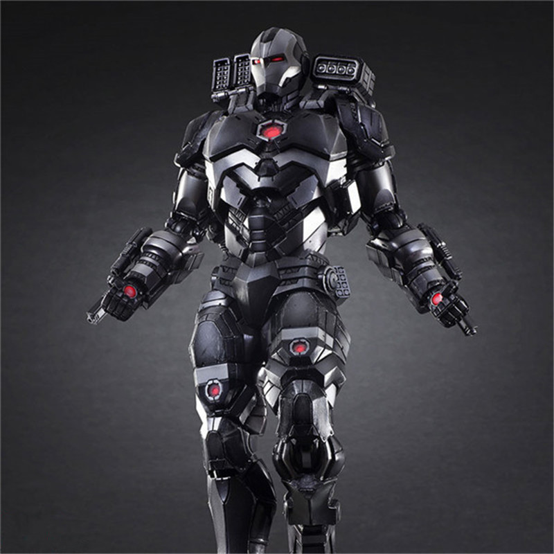 Luxury Super Heroes Iron Man Action Figure Toys Movie Grey Iron Man with Weapon Variable Figuras Dolls Brinquedos Cosplay Gift 27cm  (4)