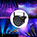 18*1W LED RGB Stage Par Light With DMX512 Master Slave Flat DJ Equipments Controller For Party With RemoteControl US Regulations
