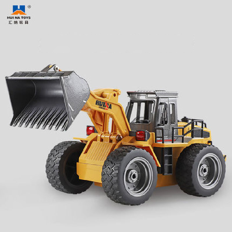 Rc Trucks Huina Toys 1520 Six Channel 1/18rc Metal Bulldozer Excavator Charging Rc Car Model Toys For Kids Gifts