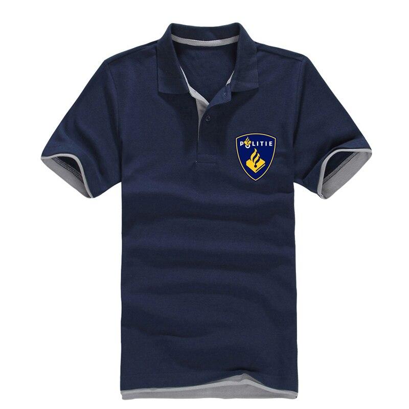 politie nederland Dutch police   Polo   shirt print Netherlands Politie men 2019 casual hit color men's   Polo   shirt summer cool
