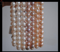 wedding Women Jewelry Necklace 10 11mm Pearl Choker white pink Purple Pearl Natural Freshwater Pearl