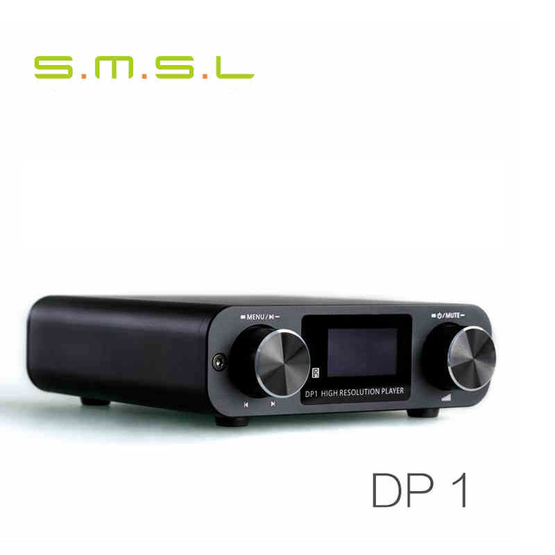 New SMSL DP1 HIFI Audio Decoder Headphone Amplifier 32Bit/192KHz USB DAC Home Audio Digital Turntable HIFI Lossless Player Black
