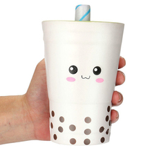 цена на Jumbo Milk Cup Squishy Simulation Slow Rising Cream Scented Novelty Soft Squeeze Toys Stress Relief Funny Toy Gift for Children