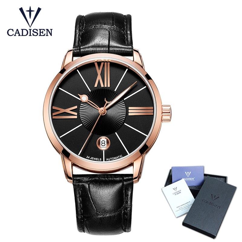 5dd981bcebf Cadisen Relógio De Pulso Dos Homens 2018 Top Famosa Marca De Luxo Masculino  Relógio Automático Relógio de Pulso De Ouro relógio Relogio masculino em ...