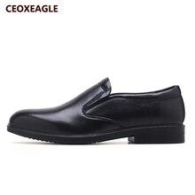חדש אביב שחור גברים שמלת נעלי גברים עסקים שטוחים שחור אמיתי עור באיכות גבוהה רך נמוך למעלה גברים פורמליות משרד נעליים
