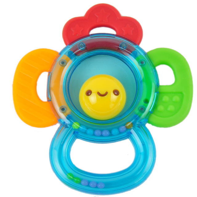 Obbe teethers rattles, newborn handbell baby toy 0-1 year old teethers