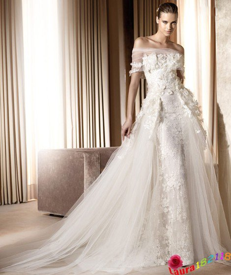 2017 Designer New Luxury Strapless Ball Gown Lace Wedding Dress Ds Esb