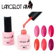 LANCELOT ART Soak Off Nail Gel Puoliväri Värillinen Värillinen Puoligeeli Professional UV ja LED vernis semi pysyvä 8ml