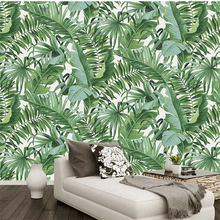 beibehang papel parede  Custom wallpaper Tropical rainforest background wall leaves wallpaper for walls 3 d papel parede  behang