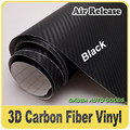 152cm*30m Black 3D Carbon Fiber Vinyl Car Film Wrap Sheet Assorted For Car Styling Free Shipping Wholesale