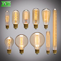 Preço de atacado, Vintage Edison Criativo Incandiscent Lâmpadas ST64/A19/G80/T185 110-240 V Suporte Da Lâmpada E27 Frete Grátis