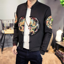 Mens Jackets And Coats Time-limited Sale Cotton Solid Slim Jacket Bomber Men 2017 Chinese Style Feather Baseball Coat Plus Size