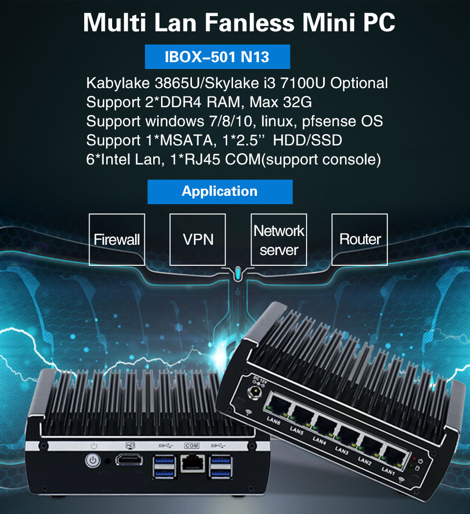 intel kaby lake celeron 3865u dual core mini pc 6 GB