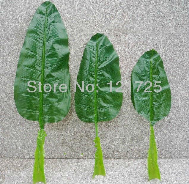 Искусственный Банановые листья, домашнее украшение, Искусственный шелк цветок, искусственные растения Natural Touch