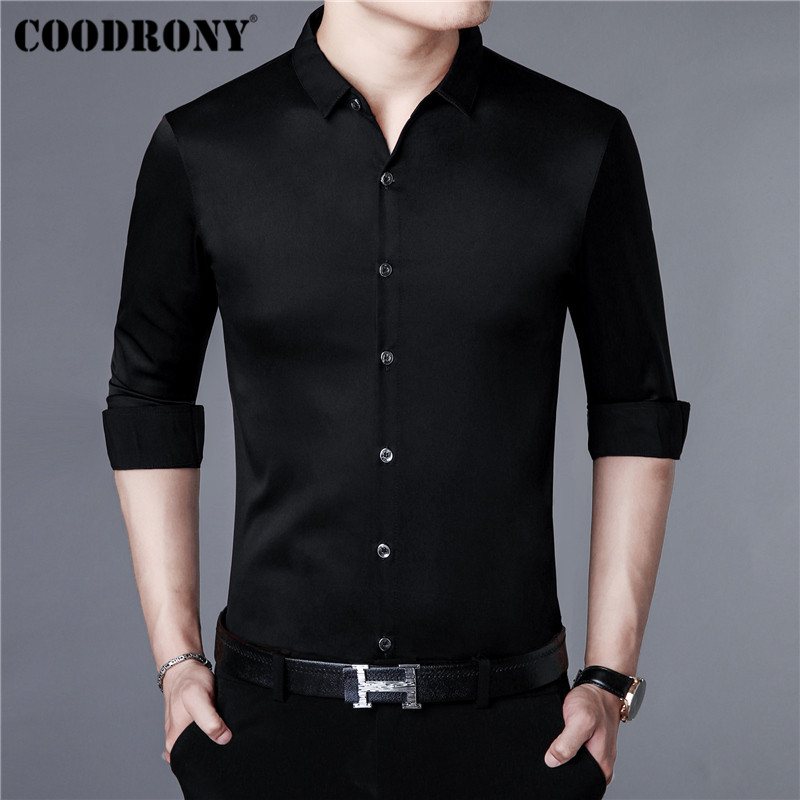 COODRONY Brand Men Shirt Autumn New Arrival Casual Shirts Long Sleeve Cotton Shirt Men Streetwear Plus Size Business Dress 96009