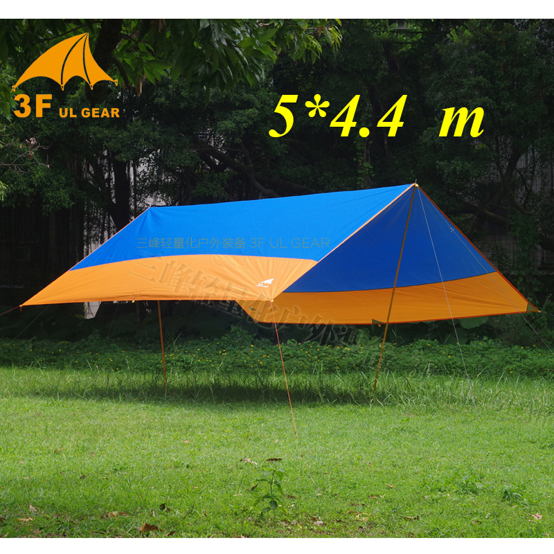 High quality 3F UL Gear 5 4 4m rectangle 210T polyester with PU and silver coating