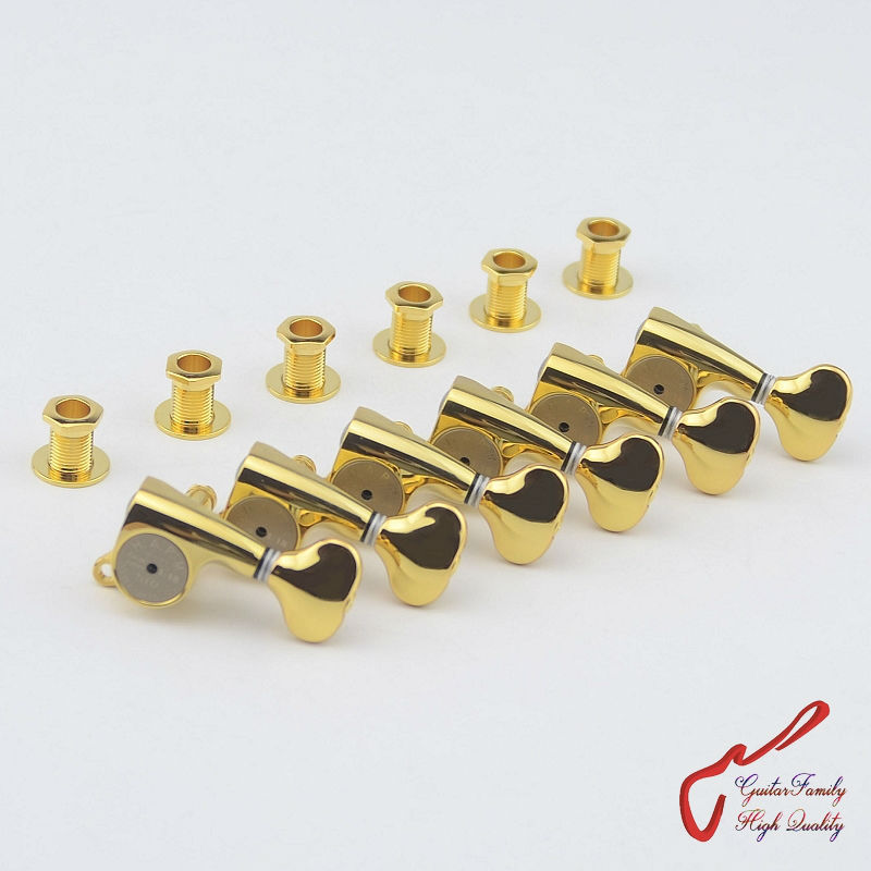 1 Set  Original Genuine 6 In-line GOTOH SGS510Z-S5-HAPM Locking Height Adjust Guitar Machine Heads Tuners (Gold) MADE IN JAPAN savarez 510 cantiga series alliance cantiga normal high tension classical guitar strings full set 510arj