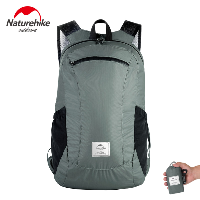 Naturehike 18L Tourist Backpack Waterproof Ultralight 120g Travel Bags 30D Nylon Silicon Outdoor Foldable Backpack Hiking Bag