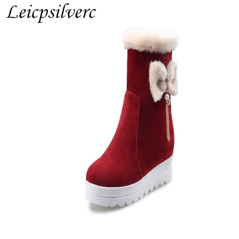 Automne 3 D'hiver Et Pour Taille Fond La Moyen De Baril 43 1 2 Hiver Bottes Plus Courtes Épais Fille Femmes rwCUrtqA