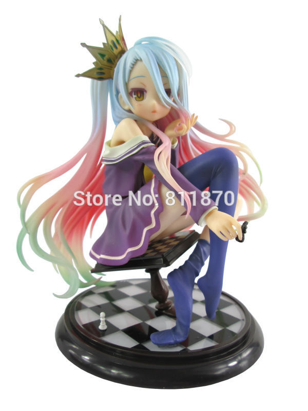 Cosplay No Game No Life Shiro 15cm/5.9'' Hi-Q PVC Action Figures Toys Model Garage Kit cosplay lol the might of demacia garen 21cm 8 3 pvc action figures model garage kit toys